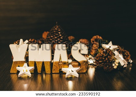 Xmas Decoration with Ceramic Letters #233590192