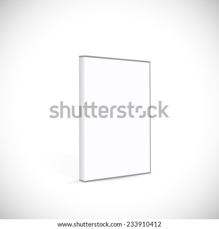 Illustration of a blank DVD case isolated on a white background. #233910412