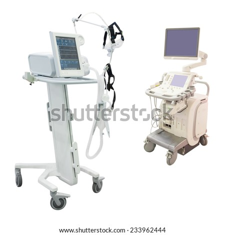 ultrasound apparatus under the white background #233962444