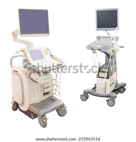 ultrasound apparatus under the white background #233962516