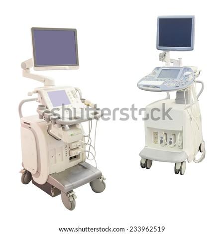 ultrasound apparatus under the white background #233962519
