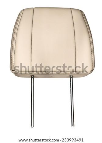Leather headrest. Isolated on white background. Royalty-Free Stock Photo #233993491