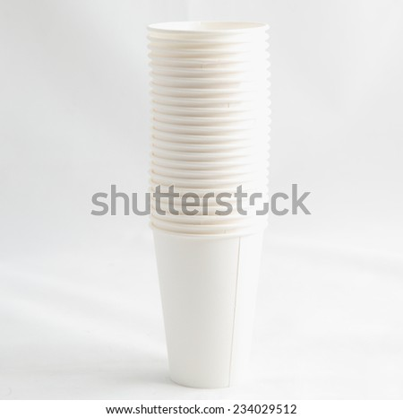 paper cups on a gray background #234029512