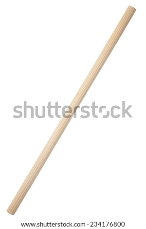 Wooden stick isolated on white background Royalty-Free Stock Photo #234176800