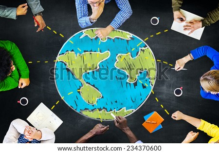 World Global Ecology International Meeting Unity Learning Concept #234370600