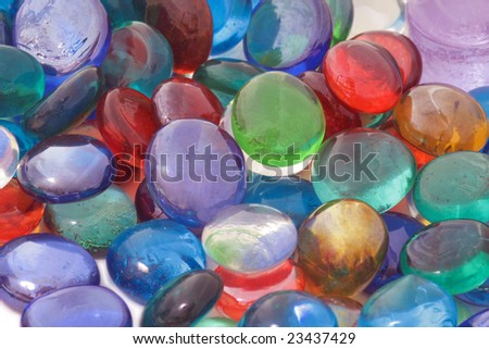 Colorful glass stones. #23437429
