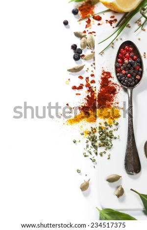 Herbs and spices selection, close up #234517375