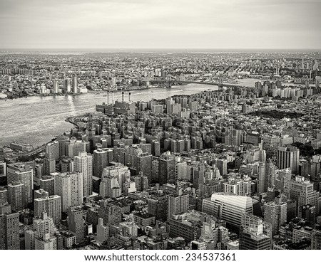 New York City Skyline in a vintage tone