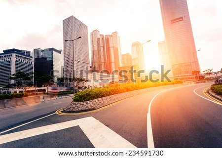 cityscape and modern office buildings in hongkong #234591730