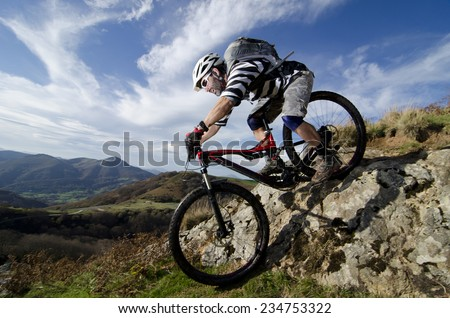 Rider in action at Freestyle Mountain Bike Session #234753322