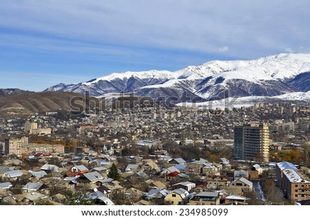 Vanadzor city, view from a height #234985099