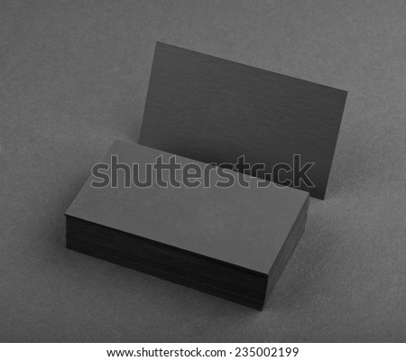 identity design, corporate templates, company style, black business cards on a black background