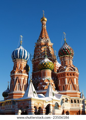 St. Basil's Cathedral  is in winter #23506186