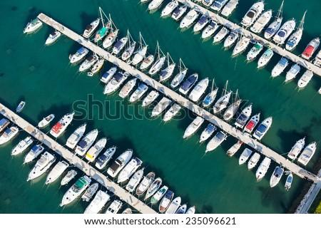 aerial view of croatia coast line Rab island  #235096621