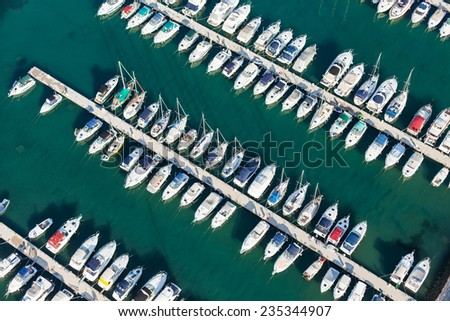aerial view of croatia coast line Rab island  #235344907