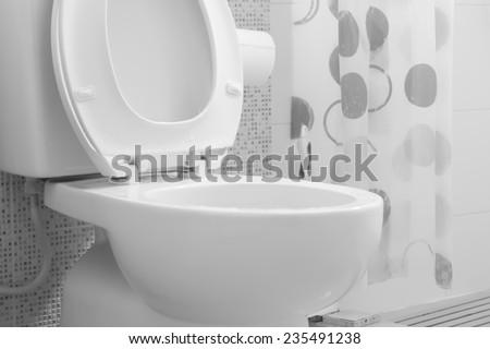 White toilet bowl #235491238