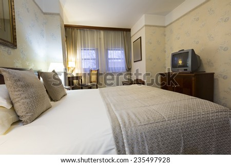 Hotel bedroom interior  #235497928