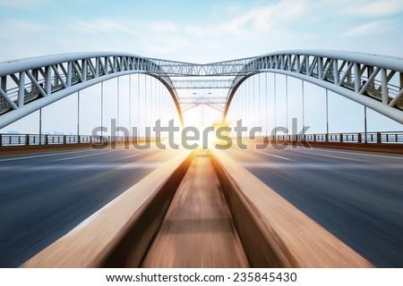 the night of modern bridge, Royalty-Free Stock Photo #235845430