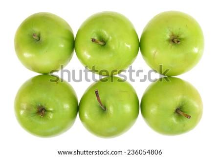 A close up shot of green apples #236054806