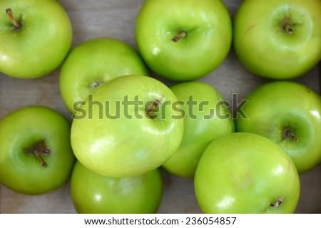 A close up shot of green apples #236054857