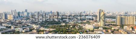 Thailand, Bangkok - NOVEMBER 10: Bangkok Cityscape with Panorama on November 10, 2014 in Bangkok. #236076409