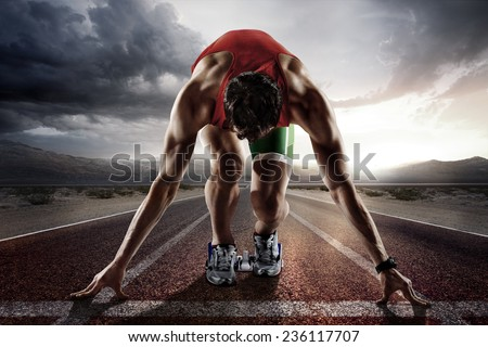 Sport. Runner. Royalty-Free Stock Photo #236117707