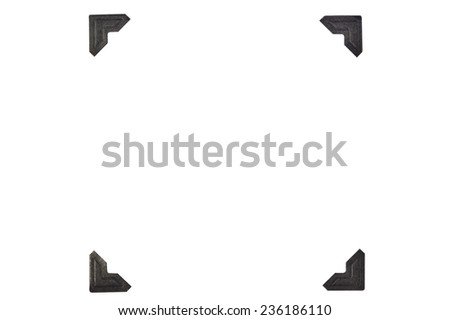 Black Photo Corners In A Square Format On White Background