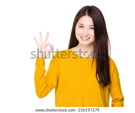Woman with ok sign #236197279