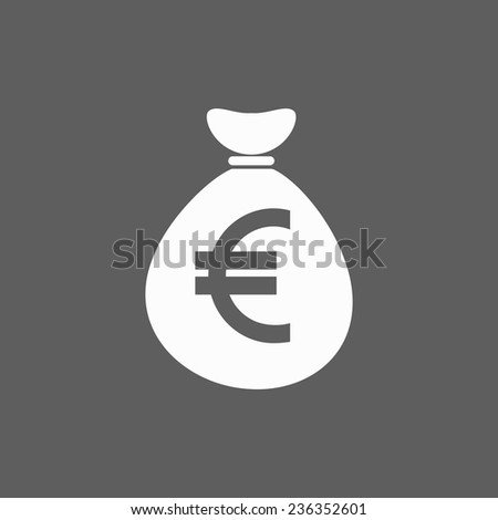 money bag euro icon #236352601