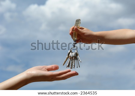 child's hand with keys #2364535