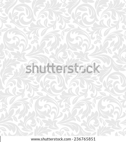 Wallpaper in the style of Baroque. A seamless vector background. Floral pattern. #236765851