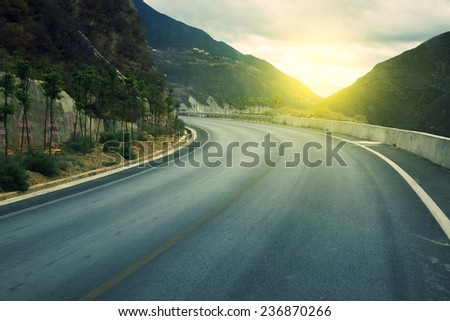 Road and mountain background  #236870266