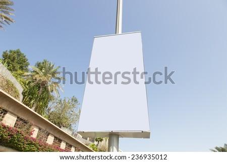 AD board on pole