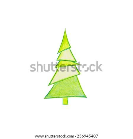 A Christmas Tree Drawn  #236945407