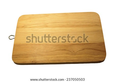 wood cutting board isolated on white background #237050503