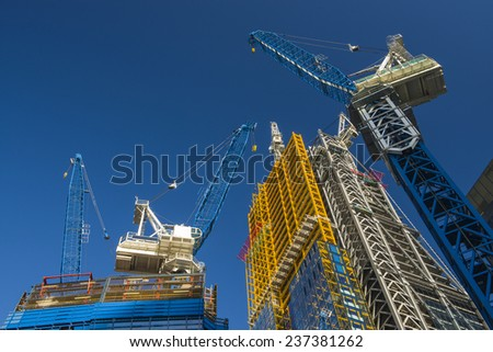 Construction Cranes Royalty-Free Stock Photo #237381262