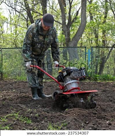 Work in the garden cultivators #237534307