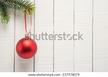 Christmas Holiday Background with ball