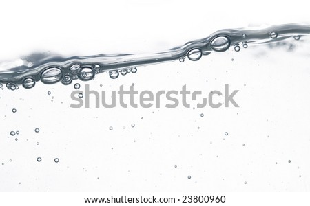 water wave and bubbles over white background #23800960