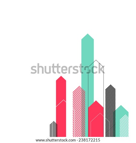 Abstract Background with Stylized Arrows to Up. For Cover Book, Brochure, Annual Report etc. #238172215