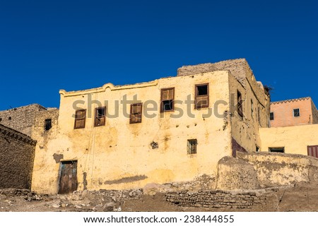 Old abandoned houses near in Egypt #238444855