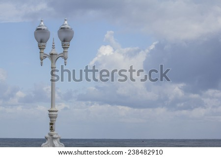 Lamp and sky with clouds #238482910