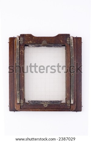 5x7 sheet film back from a wood view camera circa 1900 good for placing an image