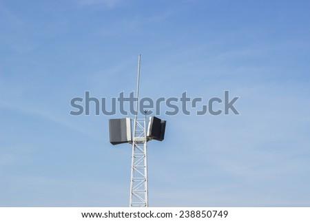 Loudspeaker with sky background #238850749