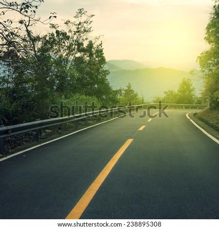 Winding road  #238895308