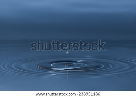 drop of water liquid with splash isolated #238951186