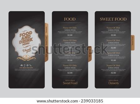 Restaurant menu design.  Royalty-Free Stock Photo #239033185