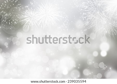 Fireworks at New Year and copy space #239035594