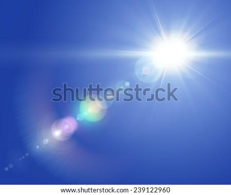 Solar lens flare Royalty-Free Stock Photo #239122960