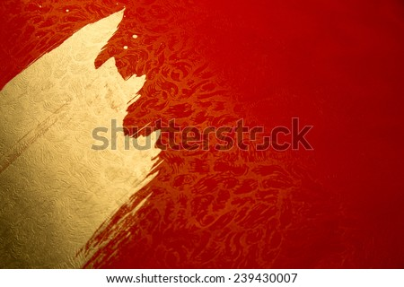 chinese gold ink /red paper Royalty-Free Stock Photo #239430007